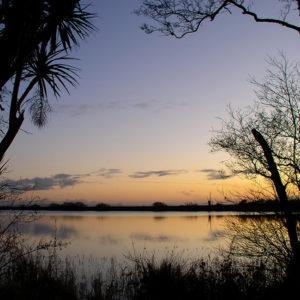Grey Abbey lake at sunset