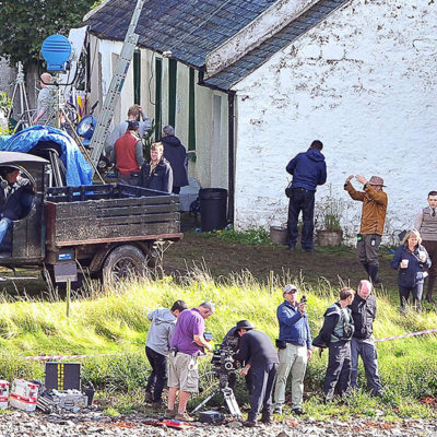Filming on Grey Abbey's middle island in Strangford Lough for 'The Lost City of Z'