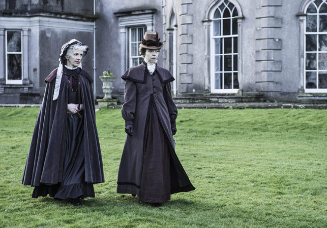 Deirdre Donnelly & Anna Maxwell Martin in The Frankenstein Chronicles at Grey Abbey House