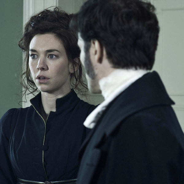 Vanessa Kirby & Ed Stoppard in The Frankenstein Chronicles at Grey Abbey House