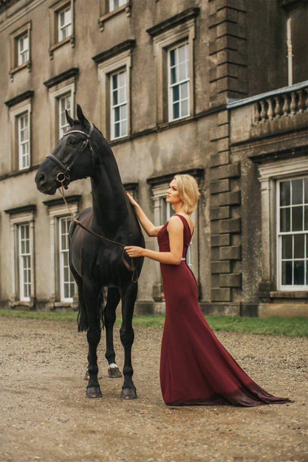 Courtney Stuart with her dressage horse Luther at Grey Abbey House #1