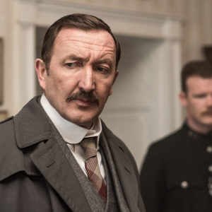 Ralph Ineson in Agatha and the Truth of Murder at Grey Abbey House