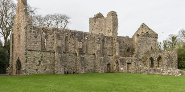 Greyabbey ruins exterior from the south west