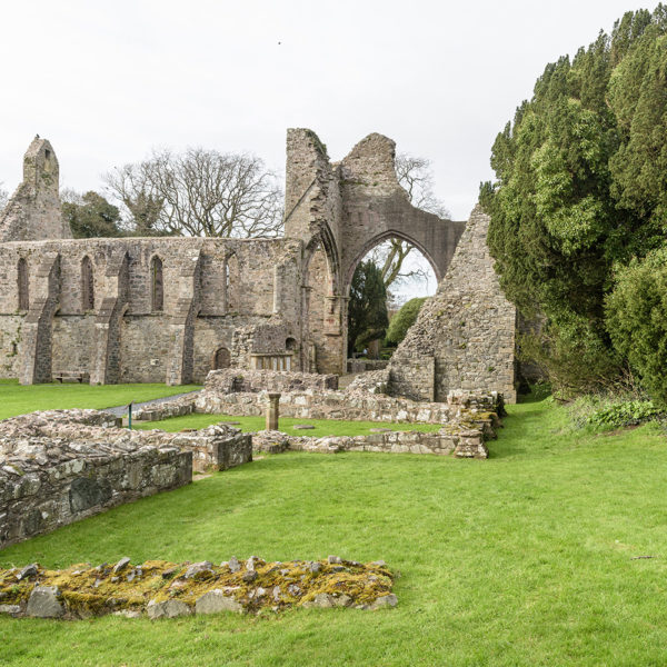 Greyabbey ruins exterior from the south east
